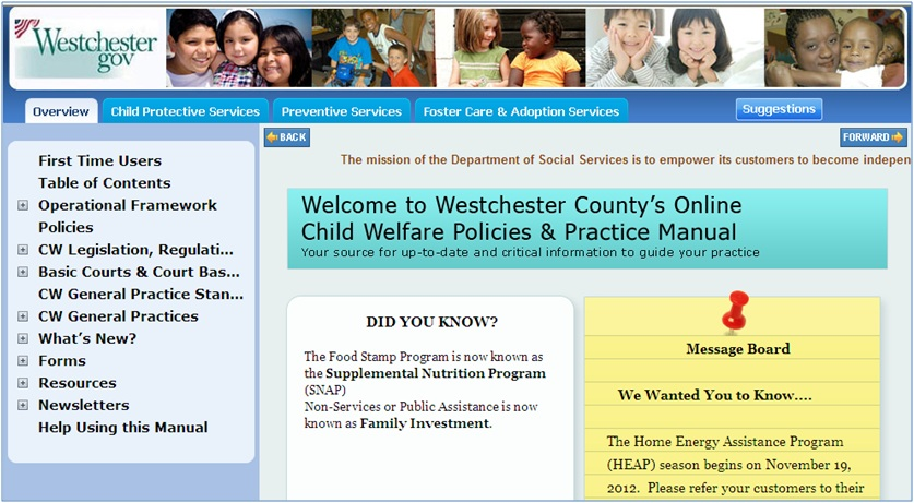 Westchester County Department of Social Services (DSS) Manual