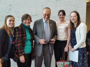 LEND trainees visiting with NY Senator Charles Schumer