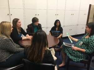 LEND trainees meeting with Representative Nita Lowey